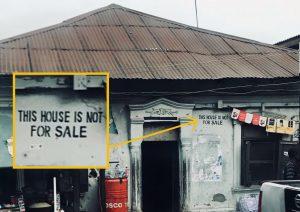 """Por qué escribir """"Esta casa no está a la venta"""" cuando… bueno… ¿la casa no está a la venta?"""